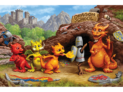 DRAGON SCHOOL 60pc CHILDREN'S