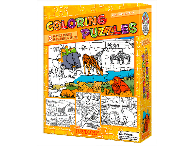 COLOURING PUZZLE NATURE