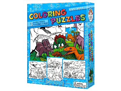 COLOURING PUZZLE DINOSAURS