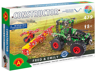 FRED & EMILY TRACTOR SET 479pc