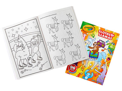 SLOTHS LOVE LLAMAS COLORING BK