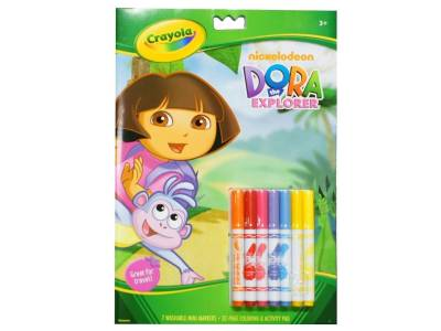 DORA COLORING BOOK 7 MARKERS