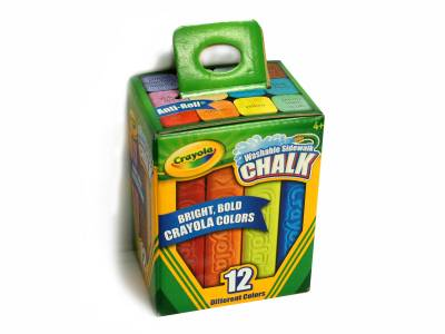 CHALK SIDEWALK 12 PACK,COLOURS