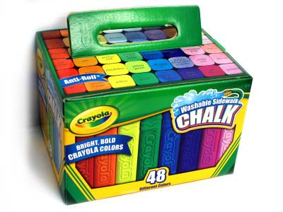 CHALK SIDEWALK 48 PACK,COLOURS