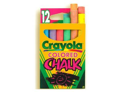 CHALK ASSTD COLOR TUCK BX (12)