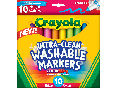 WASHABLE MARKERS BRIGHT COLORS