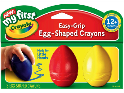 EASY-GRIP EGG-SHAPED CRAYONS