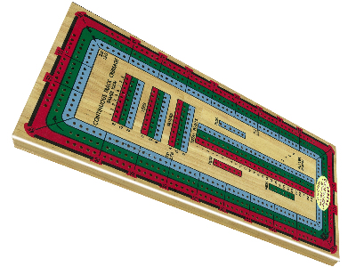 CRIBBAGE, LARGE 3 TRACK COLOUR