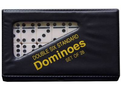 DOMINOES, D-6 IN VINYL CASE