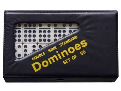 DOMINOES, D-9 IN VINYL CASE