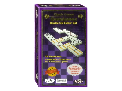 DOMINOES D6 COLOUR DOT