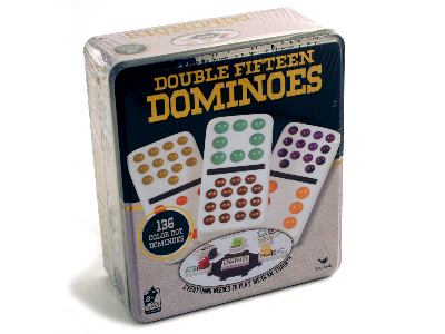 DOMINOES D15 IN TIN (CARDINAL)