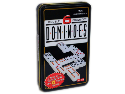 DOMINOES, D-6 IN TIN