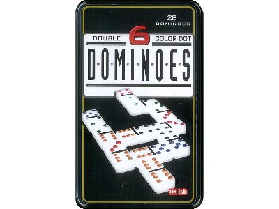 DOMINOES D6 IN TIN