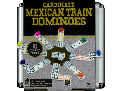 DOMINOES,MEXICAN TRAIN,ALUM.CS