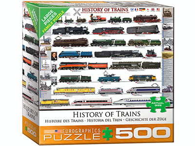 HISTORY OF TRAINS 500pcXL