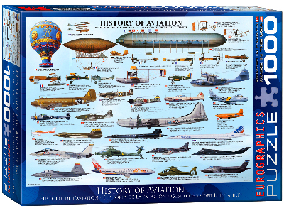 HISTORY OF AVIATION 1000pc