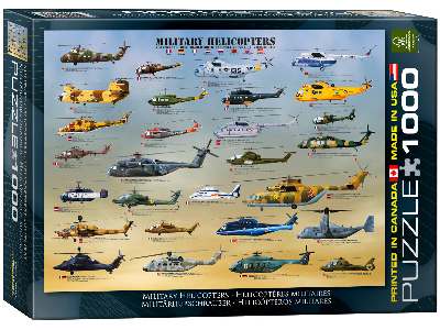 MILITARY HELICOPTERS 1000pc