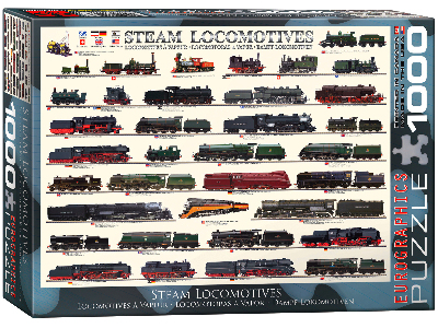 STEAM LOCOMOTIVES 1000pc
