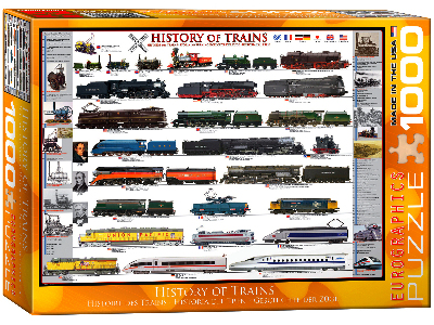 HISTORY OF TRAINS 1000pc