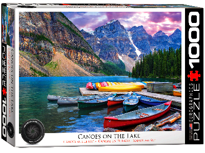 LAKE LOUISE CANOES ON THE LAKE