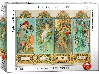 MUCHA, THE FOUR SEASONS 1000pc