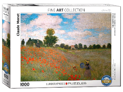 MONET, POPPY FIELD 1000pc
