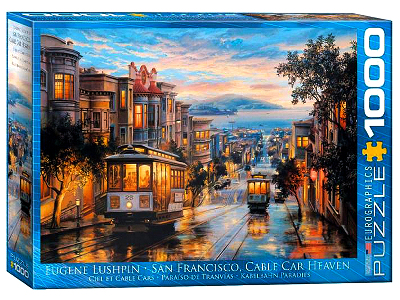 SAN FRANCISCO CABLE CAR 1000pc
