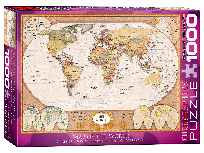 MAP OF THE WORLD 1000pc