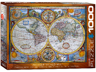 ANTIQUE WORLD MAP 1000pc