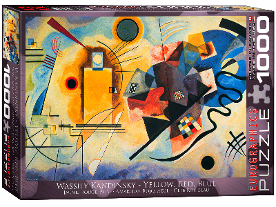 KANDINSKY,YELLOW RED BLUE 1000