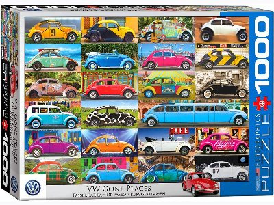 VW BEETLE GONE PLACES 1000pc