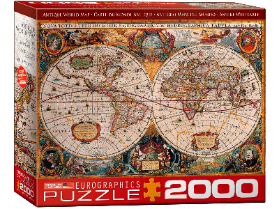 ANTIQUE WORLD MAP 2000pc