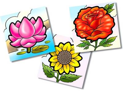 FLOWERS FIRST PUZZLE