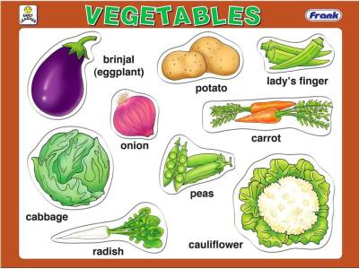 VEGETABLES 9pc TRAY PUZZLE