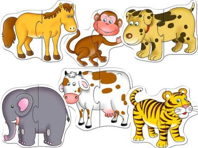 ANIMAL SHAPED PUZZLES-SET OF 6