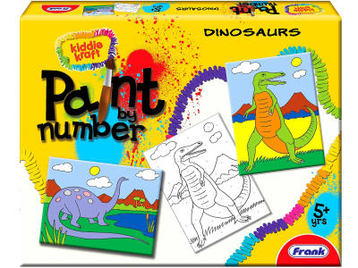 PAINT BY NUMBERS DINOSAURS