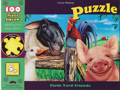 FARMYARD FRIENDS PUZZLE 100pc