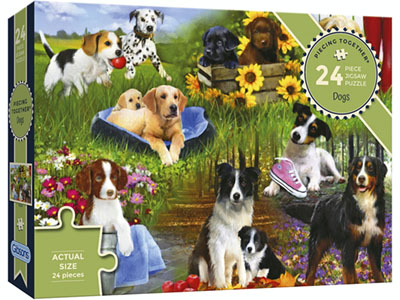 PIECING TOGETHER DOGS 24pc