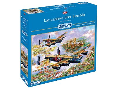 LANCASTERS OVER LINCOLN 500pc