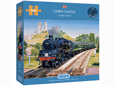 CORFE CASTLE CROSSING 500pc