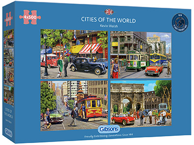 CITIES OF THE WORLD 4 x 500pcs