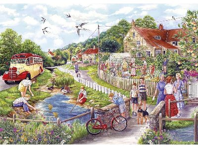 SUMMER BY THE STREAM 1000pc