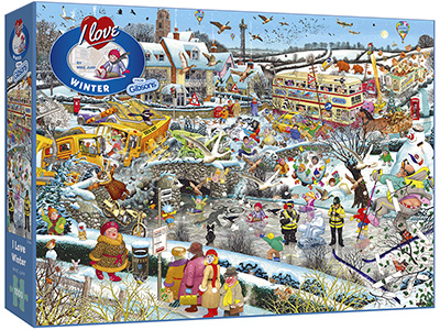 I LOVE WINTER 1000pc