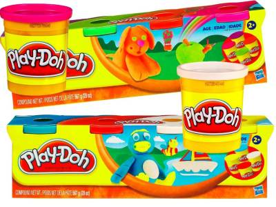 PLAYDOH 4 TUB PACKS ASSTD