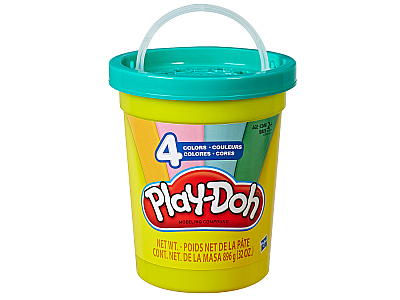 PLAYDOH 4 COLORS BIG CAN