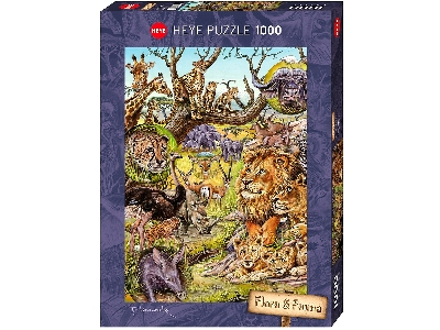 FLORA & FAUNA, SAVANNAH 1000pc