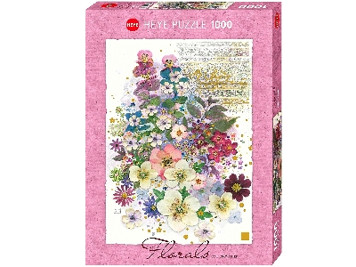 FLORALS, PINK BOUQUET 1000pc