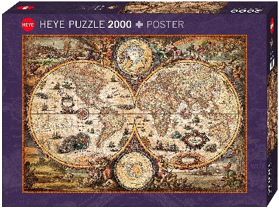 MAP ART, VINTAGE WORLD 2000pc