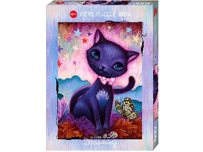 DREAMING, BLACK KITTY 1000pc
